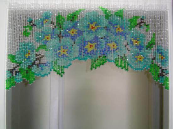 Плетение из бисера шторы