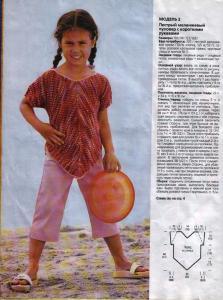Модели детской одежды связанные крючком.