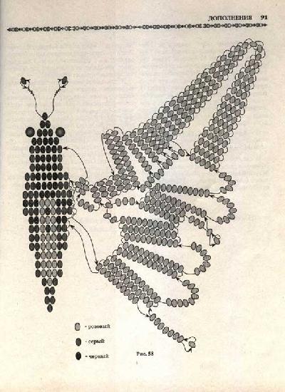 большая бабочка из бисера - О том, как плести бисером.