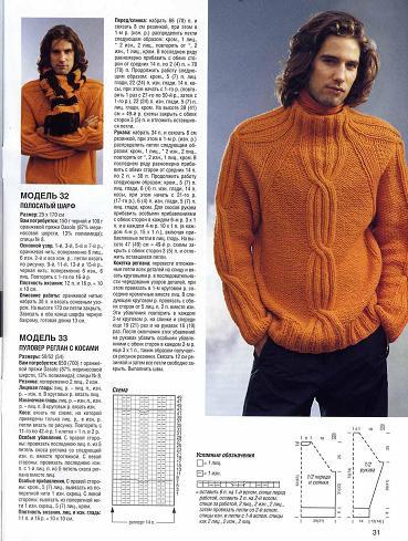 Рхеми, вяжем мужской свитер и вязание крючком квадратными мотивами