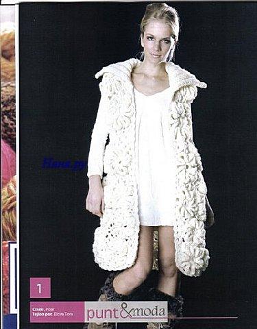 вязаное пальто крючком с описанием. летнее пальто крючком, топик крючком...