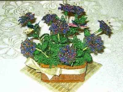 простые цветы из бисера схемы - БИСЕР.